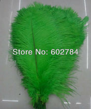 Free Shipping 100pcs/lot green ostrich drab feather ostrich plumes 16-18inch 40-45cm for wedding centerpieces