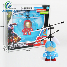 New Iron man/Captain America Electronic Toys RC Flying Helicopter UFO Ball Ar.drone Original Box Package
