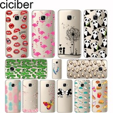 Flamingo Unicorn Pineapple Panda Soft Silicon Phone Cases Cover For samsung Galaxy S6 7 8 edge plus A3 A5 A7 J3 J5 J7 2016 2017