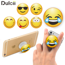 Phone Mounts Popsockets Emoji Pattern Stretchable Grip Holder Desktop Mount for iPhone Samsung Sony Etc Face With Tears of Joy