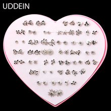 UDDEIN High quality newest design fashion earrings for women mixed color stud earring hello kitty jewelry wholesale 36 pair(China)