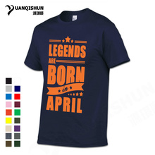 Buy YUANQISHUN Boutique T Shirt Legends Born April Funny Birthday Gift Men's Cotton T-shirt Street Hip Hop Short Sleeve Tees for $7.86 in AliExpress store