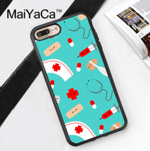 Nurse Medical Medicine Health Heart Soft TPU Case for iPhone 7 7Plus for iPhone 6 6S Plus 5 5S 5C SE 4S Soft Rubber Phone Cover