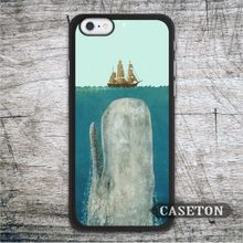 The Boat And The Whale Case For iPhone 7 6 6s Plus 5 5s SE 5c 4 4s and For iPod 5 Classic Lovely Painting Protective Cases
