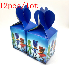 Buy 12PCS/lot lovely cartoon PJ MASKS candy box decor baby shower party happy birthday party decoration supplies child favor for $5.76 in AliExpress store