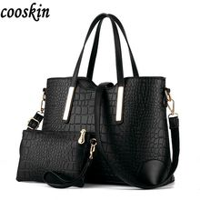 2017 women handbag leather hand bag michael crocodile crossbody bag shoulder messenger bags clutch tote+purse