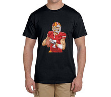 Cool printing Colin Kaepernick funny 100% cotton t shirts Mens 7 Fashion T-shirts for 49ers fans 0214-11(China)