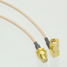 Different Length SMA Male Plug Right Angle Connector Switch RP SMA Female Jack Convertor RG316 RF Jump Coaxial Cable Adapter