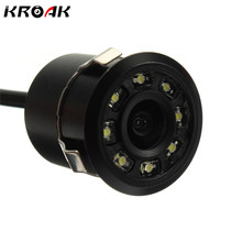 Universal 8 LED Waterproof HD CCD Car Rear View Camera Super Mini Butterfly Parking Backup Reversing Camera Night Vision