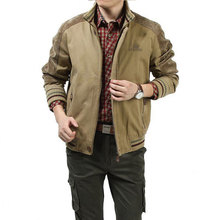 2017 New Autumn Winter Cotton Stand COLLAR CLOTHES Khaki Jackets Military Men Pockets Plus Size 5xl Casual Coat Men