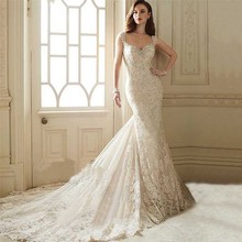 2016 Vestidos CasamentoVestido De Noiva Renda 2016 Vintage Lace Backless Wedding Dresses Bride Sexy Mermaid Civil Wedding Gowns