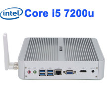 Fanless Barebone i5 7200u i3 7100u Win10 3 Years Warranty Mini HDMI Computer 4K HTPC TV Box Intel HD Graphics 620 fanless pc(China)