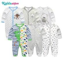 6Pcs/Set newborn baby clothes girls rompers 2018 summer boys jumpsuit costume Long Sleeve 100%cotton unisex roupas de bebe cloth