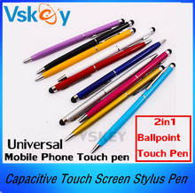 Buy 100Pcs Universal 2in1 Ballpoint Metal Capacitive Touch Screen Stylus Pen ipad iphone samsung LG Sony Tablet PC Mobile phone for $29.00 in AliExpress store