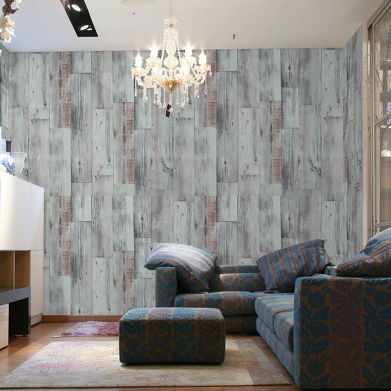 PAYSOTA Vintage Wood grain Grey Wallpaper Bedroom Living Room Sofa Background Wall Paper Roll<br>