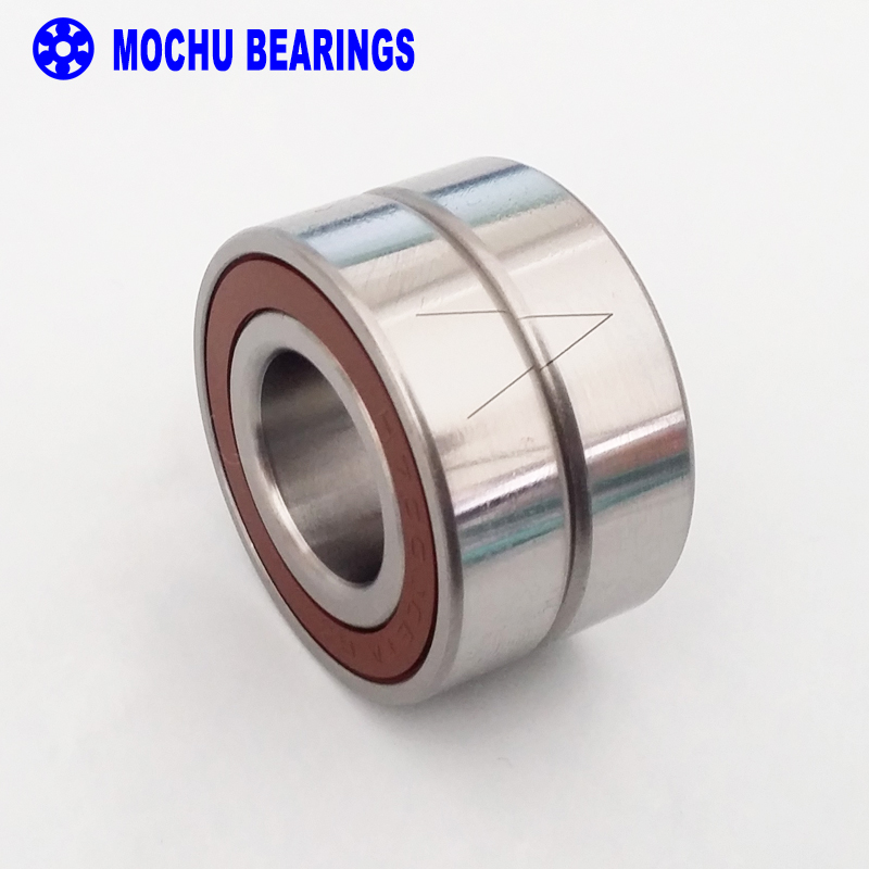 1 Pair MOCHU 7005 H7005C 2RZ P4 DB A 25x47x12 25x47x24 Sealed Angular Contact Bearings Speed Spindle Bearings CNC ABEC-7<br>