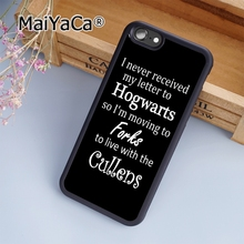 MaiYaCa Harry Potter Twilight Quotes Soft Rubber cell phone Case Cover for iPhone 5 5S SE phone cover shell(China)