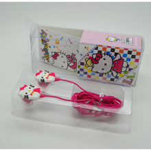 10 pcs/lot New Cartoon Earphone For MP3 Player Top Quality Hello Kitty Headphone With Retail Box For Mobile Phone