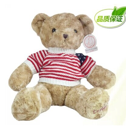 stuffed animal lovely teddy bear 31 inch sweater bear plush toy soft doll throw pillow w2342<br>