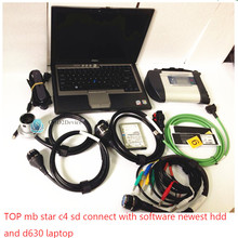 2017 New Cost Effective Mb Star C4 for most Cars and Trucks SD C4 with d630 Laptop software with Xentry 2017.09 Version(China)