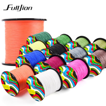 Fulljion 14 Colors 100M 110Yards PE Braided Fishing Line 4 Stands Multifilament Fishing Lines for Carp Fishing Rope Cord