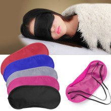 Travel Sleep Rest Sleeping Aid Mask Eye Shade Cover Comfort Blindfold Shield Black/Red/Hot Pink/Royal Blue/Gray