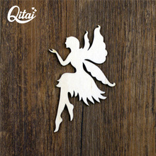 QITAI 12 Pcs/Lot Cute Animal Shape Angel Wooden Decor Laser Cut Wooden Shapes Fairy Wedding Home Decoration Gift WF278(China)