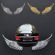 CITALL Alloy Metal Car Decoration 3D Angel Wings Window Bumper Body Badge Emblem Sticker Decal for Ford Toyota Nissan VW Kia(China)