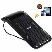 New Wireless Car Speakerphone Sun Visor Handsfree Bluetooth Car Kit Speaker Bluetooth Receiver and Broardcast Phone Number JC10(China)