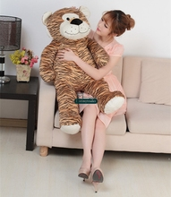 Dorimytrader 39'' / 100cm Giant Cute Plush Soft Stuffed Cartoon Leopard Tiger Toy,Nice Baby Gift, Free Shipping DY60286