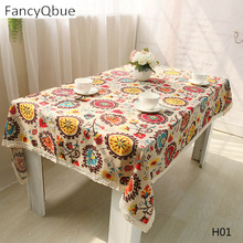 National wind cotton linen table cloth Sun flower table cloth Table Covers for Wedding Party Home(China)