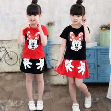 Katefengwo Boys Girls Summer Mickey Shorts Skirts Sets Teenage Girls Casual Clothes Graduation Children Clothing Bosudhsou