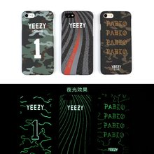 2017 Cool Luminous Rap YEEZY Cases For iPhone 6 6 Plus 6s Plus 7 Plus 7 YEEZY Season PABI Case Cover PC Phone Protector Cover