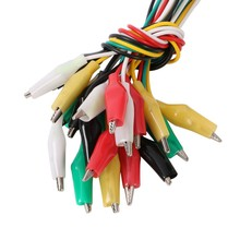 10pcs Alligator Clips Electrical DIY Test Leads Alligator Double-ended Crocodile Clips Roach Clip Test Jumper Wire Brand