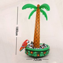 1.8 M Inflatable Coconut Palm Tree Drinks Cooler Ice Bucket Summer Beach Decorations Swimming Pool Party Favors Hawaii Series