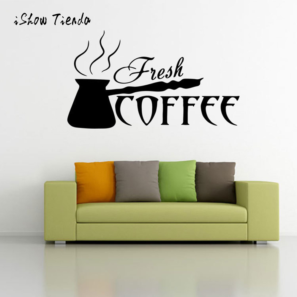 Compare prices on coffee wall stickers online shoppingbuy low 2017 new creative wall stickers coffee cups kitchen wall stickers cafe vinyl art decals pub cafe amipublicfo Images