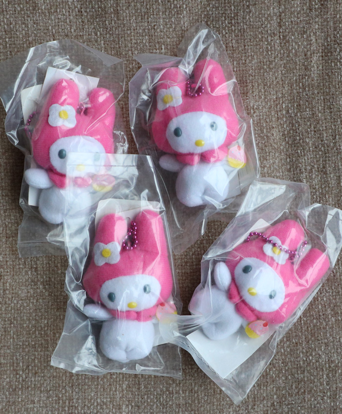1pcs 9cm Mini Cartoon my melody Rabbit Anime plush Dolls Melody Daisy Sweetheart doll baby soft foam <br><br>Aliexpress