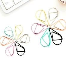 10 pcs/lot Mini Large Size Cute Kawaii Metal Bookmarks Golden/Pink/Black Creative Water Drop Paper Clips Korean Stationery