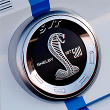 For Ford Mustang Sticker ABS 3D Black or Red Shelby GT500 SVT Super Snake Tail Trunk Lid Emblem Badge