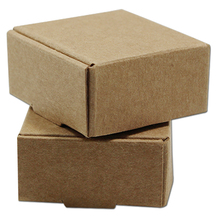Small 4*4*2cm Kraft Paper Gift Box for Jewelry Pearl Candy Handmade Soap Baking Box Cake Cookies Chocolate Package Packing Box(China)