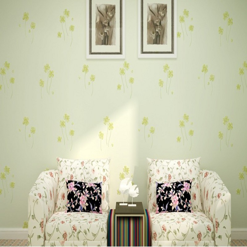 Free Shipping Stereo 3D non-wovens wallpaper warm pastoral flowers living room bedroom hotel wallpaper<br>