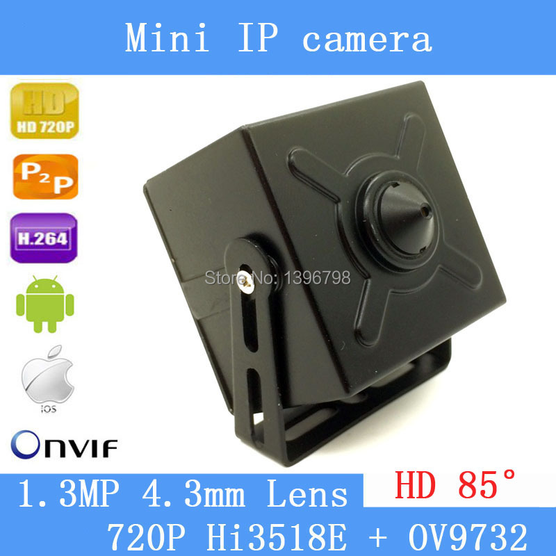 720P mini ip camera ip mini 1.0MP ONVIF HD H.264 P2P Mobile Phone Surveillance With Audio CCTV IP Camera 4.3mm Pinhole lens<br>