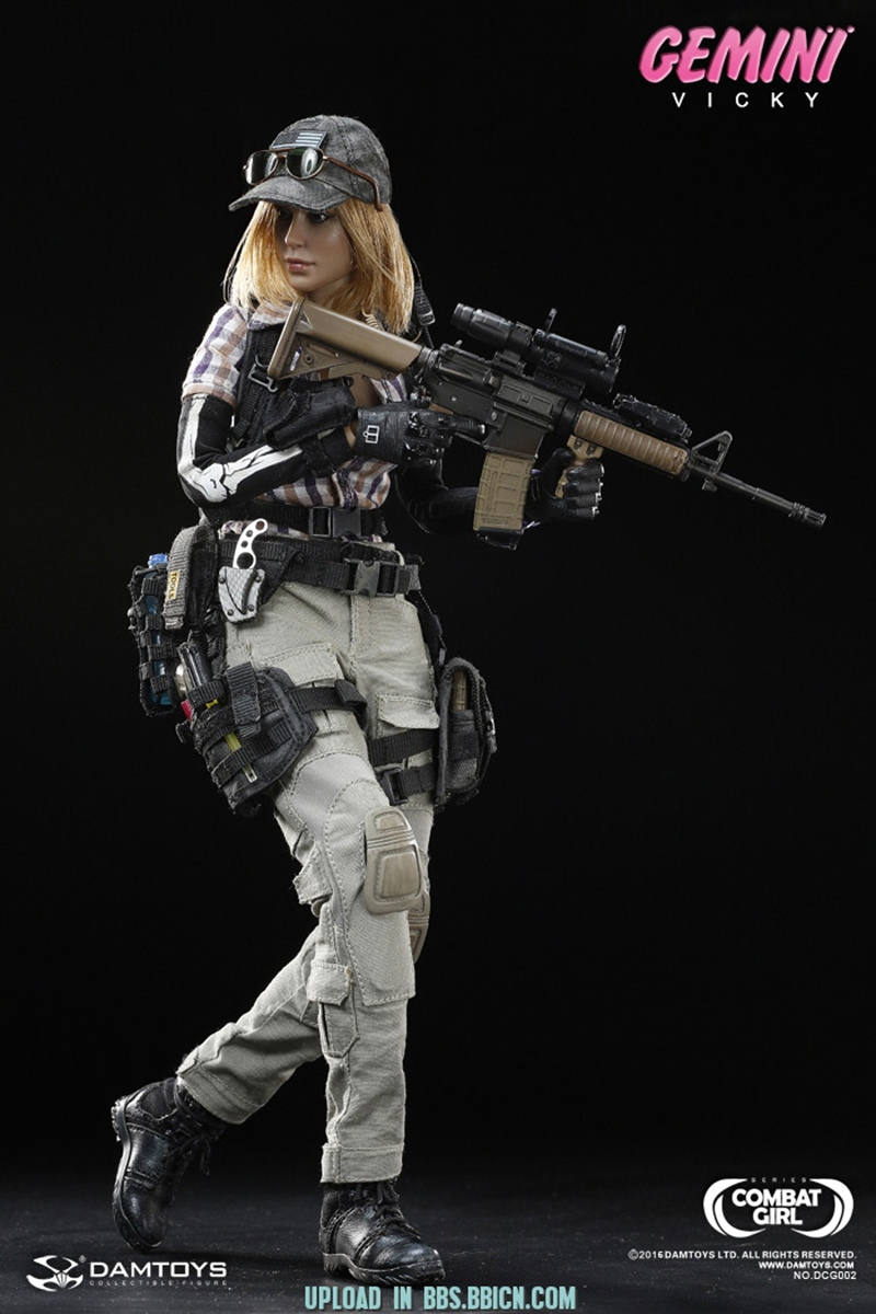1/6 Scale DAMTOYS DCG002 1/6 COMBAT GIRL Series vicky products Gemini VICKY Female PMC pony girl New Hot Toys Model