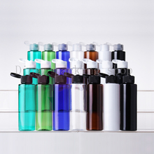 Wholesale 50pcs 100ml Flip top cap PET perfume bottles empty small perfume refillable black bottle container (China (Mainland))