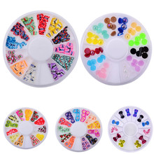 High Quality 3D Mix Fimo Nail Art Nail Tips Polymer Clay Slices Decoration Wheel New Jul4 Drop Shipping MG