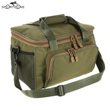 37 * 25 * 25cm Men Fishing Bag Canvas Multifunctional Waist Shoulder Bag Outdoor Sport Lure Fishing Tackle Storage Bags Pesca