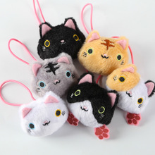 peluche San-X mini plush hair bands cartoon Sushi Cat / Kutusita Nyanko cat dolls Hair rope doll for girl gift free shipping