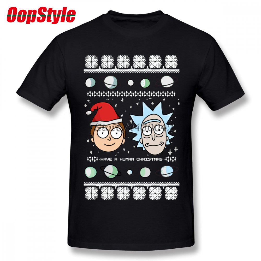 Rick And Morty Ugly Christmas Sweater T Shirt For Men Plus Size
