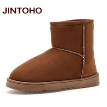 JINTOHO Unisex Winter Snow Boots Brand Ankle Rubber Boots Fashion Men Winter Shoes Cheap Men Winter Boots Australian Boots(China)