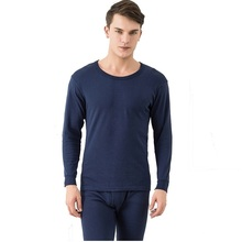 Long johns men thermal underwear sets thin long sleeve undershirt+underpants(China)
